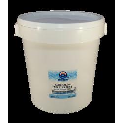 Clor lent tablete 200 grame pentru piscine, 25kg  de la Quimicamp Piscinas referinta CHS 370-25A