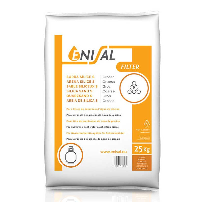 Material filtrare nisip granulatie 2 - 4 mm, sac 25 kg  de la Enisal referinta 3857