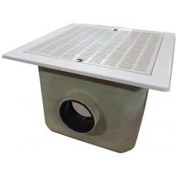 Sifon patrat beton 330x330 grila ABS, conexiune D110  de la  referinta 22361