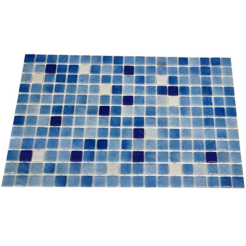 Mozaic sticla Niebla Mix1, suport polybond, 2.5x2.5 cm, cutie 2mp  de la SpaZone referinta HS13149