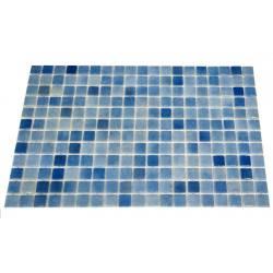 Mozaic sticla Niebla Mix2, suport polybond, 2.5x2.5 cm, cutie 2mp  de la SpaZone referinta HS13059